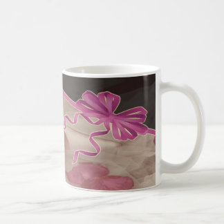Wedding Shoes Rose Petals Set Basic White Mug