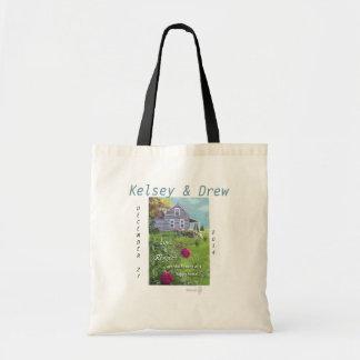 Wedding Shower Gift custom tote bag house flowers