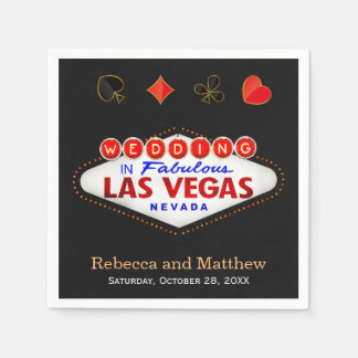 Wedding Shower Las Vegas Wedding Party Disposable Serviette