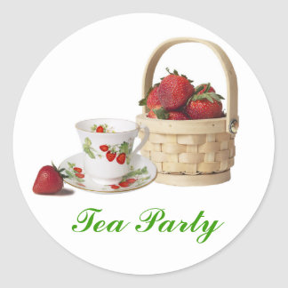 Wedding Shower Tea Party Stickers