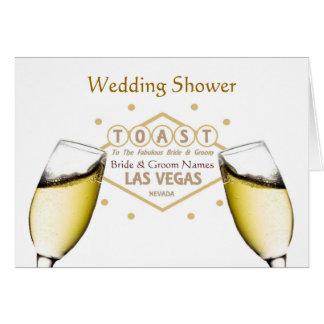 "Wedding Shower ""Toast the Bride & Groom"" Las Vegas Greeting Card"
