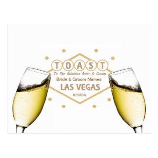 "Wedding Shower ""Toast the Bride & Groom"" Las Vegas Post Card"