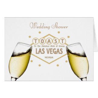 "Wedding Shower ""TOAST"" to Bride & Groom Las Vegas  Greeting Card"