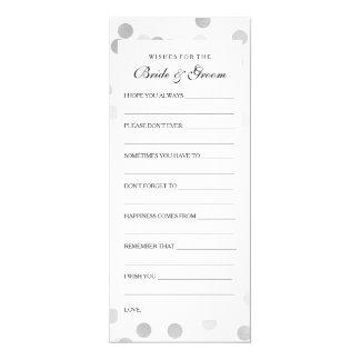 Wedding Shower Wishes Silver Foil Glitter Lights Card