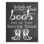 Wedding sign Chalkboard style funny boots sign Photo Art