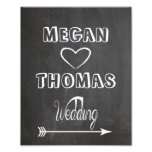 Wedding sign Chalkboard style  party way right Photo