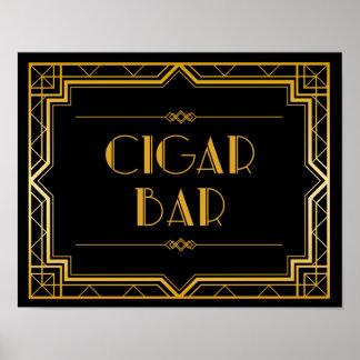 Wedding Sign – Cigar Bar Gatsby Wedding Sign