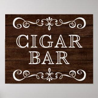 Wedding Sign – Cigar Bar Rustic Wedding Sign