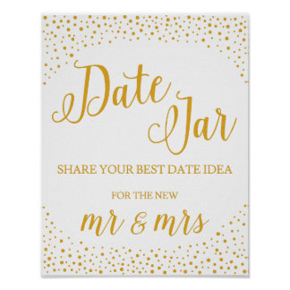 Wedding Sign – Date Jar Confetti Wedding Sign