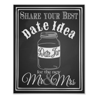 "Wedding sign ""Date jar guest book"" sign chalkboard Poster"