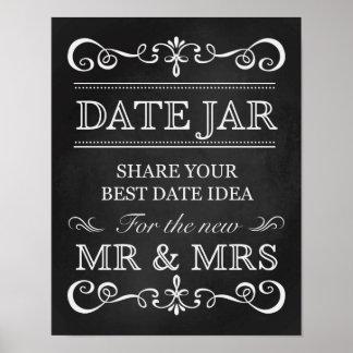 Wedding Sign – Date Jar Wedding Chalkboard Sign