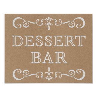 Wedding Sign – Dessert Bar Rustic Wedding Sign