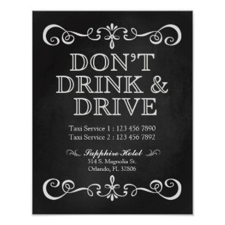 Wedding Sign – Don't' Drink & Drive Chalkboard