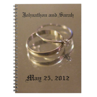 Wedding sign in book notebook