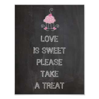 Wedding sign - love is sweet please take a treat