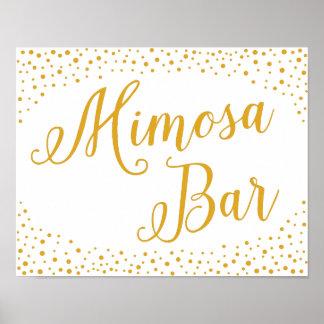 Wedding Sign – Mimosa Bar Confetti Wedding Sign