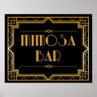 Wedding Sign – Mimosa Bar Gatsby Wedding Sign