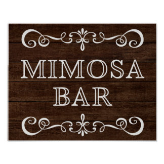 Wedding Sign – Mimosa Bar Rustic Wedding Sign
