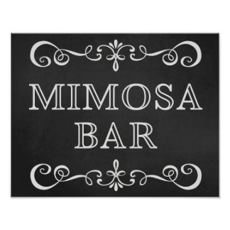 Wedding Sign – Mimosa Bar Wedding Chalkboard Sign