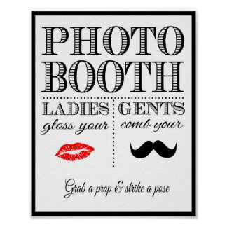 Wedding sign Photo Booth vintage style Poster