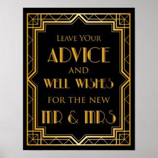 Wedding Sign – Well Wishes Gatsby Wedding Sign