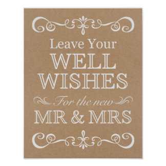 Wedding Sign – Well Wishes Rustic Wedding Sign