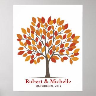Wedding Signature Tree Poster – Natural Fall-MED