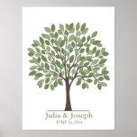 Wedding Signature Tree Poster – Natural Green