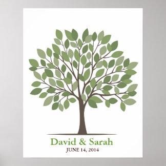 Wedding Signature Tree Poster – Natural Green–MED