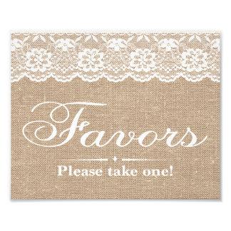 Wedding Signs - Burlap & Lace - Favors -