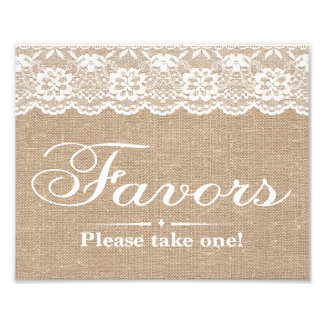 Wedding Signs - Burlap & Lace - Favors - Photo