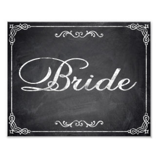 Wedding signs chalkboard Bride Photo Art