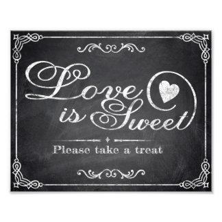 Wedding signs - Chalkboard - Love is Sweet -