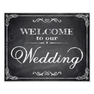 Wedding signs chalkboard welcome