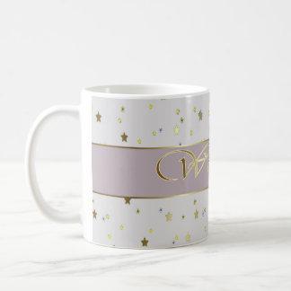 Wedding Silver Golden Stars Mug