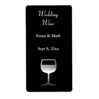 Wedding Silver Wine Label