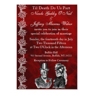 Wedding Skeleton Skulls Invitation