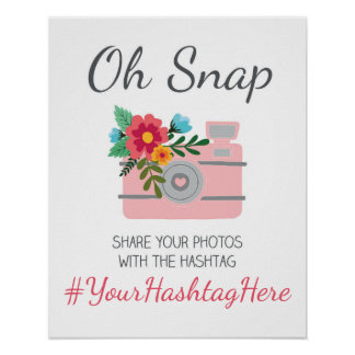 Wedding Social Media Hashtag Sign