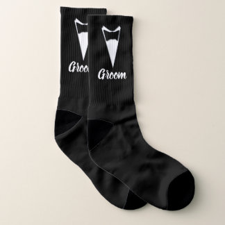 Wedding Socks for Groom Your Background Color 1