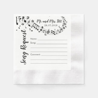 Wedding Song Request Cocktail Napkins Paper Napkin