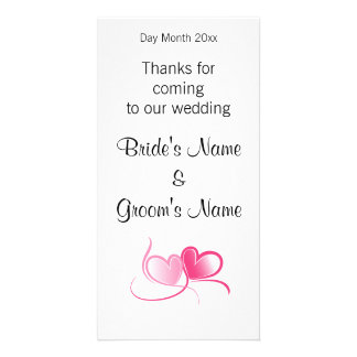 Wedding Souvenirs, Gifts, Giveaways for Guests Custom Photo Card