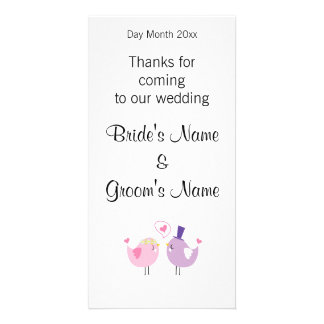 Wedding Souvenirs, Gifts, Giveaways for Guests Customized Photo Card