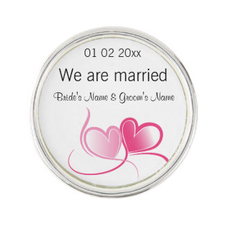 Wedding Souvenirs, Gifts, Giveaways for Guests Lapel Pin
