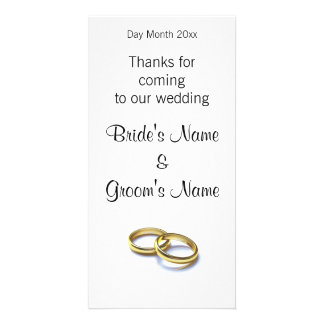 Wedding Souvenirs, Gifts, Giveaways for Guests Personalised Photo Card