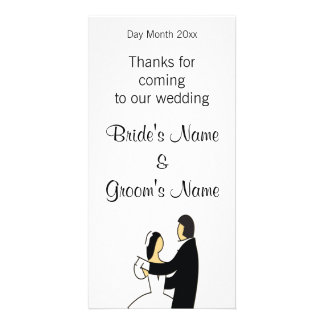 Wedding Souvenirs, Gifts, Giveaways for Guests Personalized Photo Card