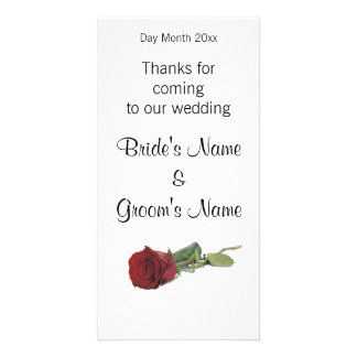 Wedding Souvenirs, Gifts, Giveaways for Guests Photo Card Template