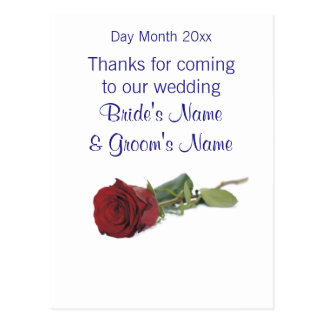 Wedding Souvenirs, Gifts, Giveaways for Guests Postcard