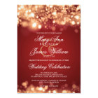 Wedding Sparkling Lights Gold Card