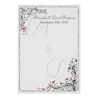 Wedding Special Event Seating Chart or Guestbook Posters