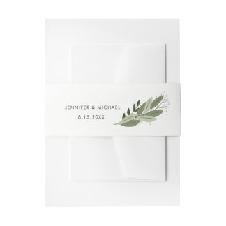 Wedding Sprigs Belly Band Invitation Belly Band